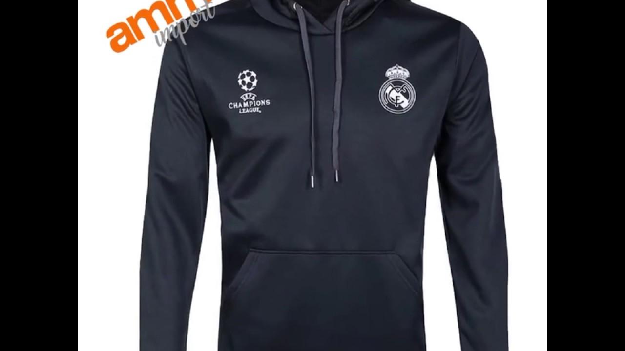 Agasalho Futebol Treino Real Madrid Futebol Men Capuz Adidas - YouTube 973246df5acf7