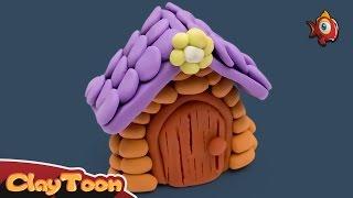 House, Polymer clay tutorial | بيت , تشكيل صلصال