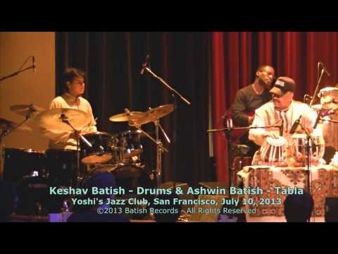 Tabla & Drum Set Jam - Ashwin Batish and Keshav Batish at Yoshi's San Francisco