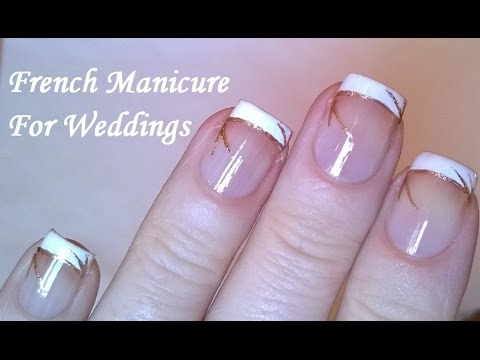 French manicure tutorial at home diy elegant easy wedding nail french manicure tutorial at home diy elegant easy wedding nail art youtube prinsesfo Gallery
