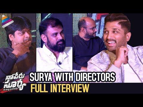 Allu Arjun Interview With Directors | Naa Peru Surya Naa Illu India | Vakkantham Vamsi | NSNI