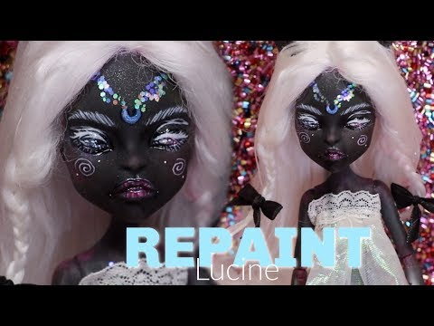 524028d6a62 DOLL REPAINT ! Lucine Custom Monster High Catty Noir Doll OOAK • JackyOhhh