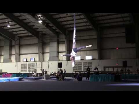 Chelsea's Buckeye Classic Aerial Hammock Routine - Rewrite the Stars -