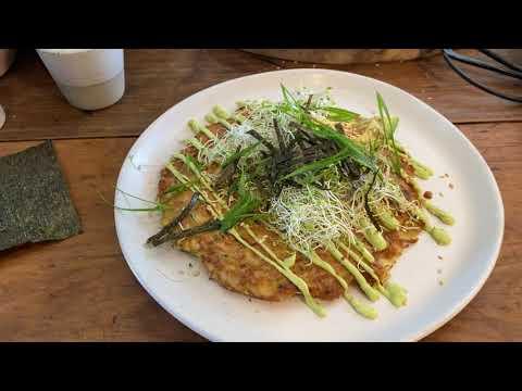 Gluten Free Vegetable Pancake with Avocado Mayonnaise