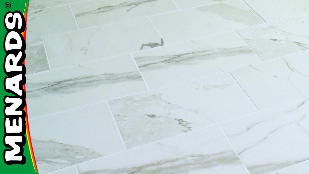 how to install floor tile menards