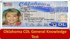 Oklahoma CDL General Knowledge Test
