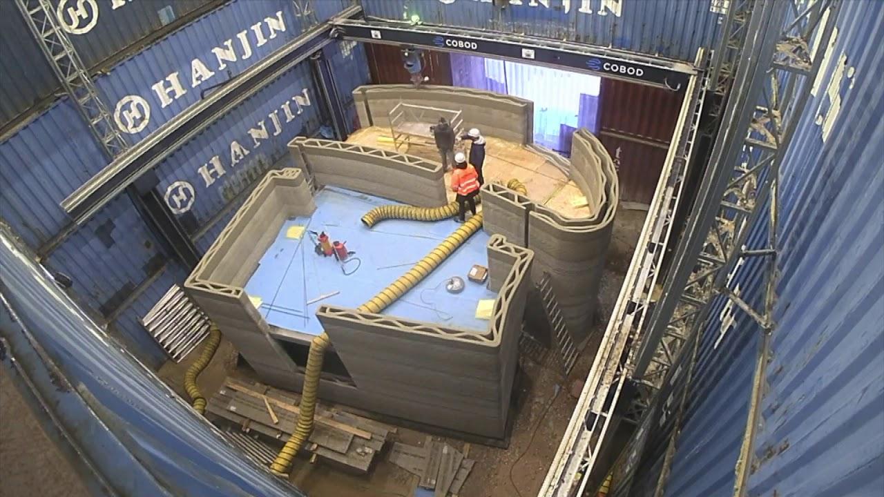Eerste geprint huis in Europa op Kamp C - First printed house in Europe at Kamp C