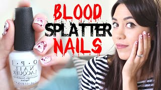 Blood Splatter Nail Tutorial