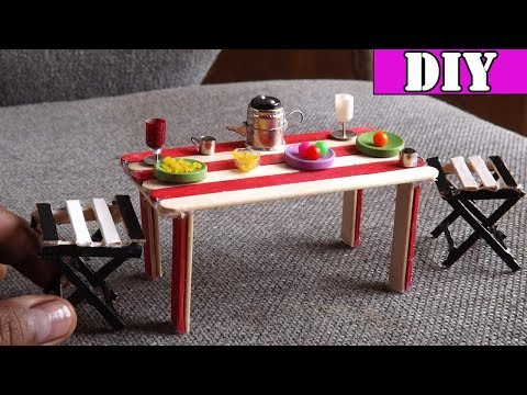 Dining Table and Chairs DIY | Easy Miniature Furniture Crafts 2017