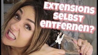 HairExtensions mit Zange entfernen