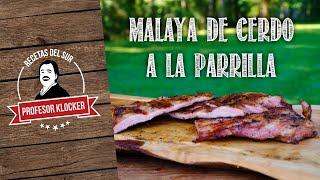 Malaya de Cerdo a la Parilla - Recetas del Sur