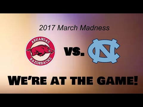 Final four minutes of 8 Arkansas and 1 North Carolina in March Maddness 3,19,17