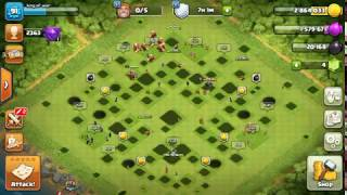 Invisible base in first time in clash of clans by clash with king