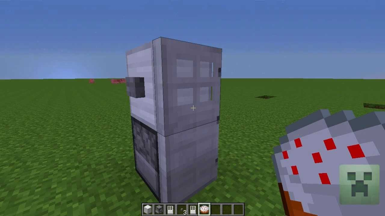 Minecraft How To Make A Fridge That Works Youtube