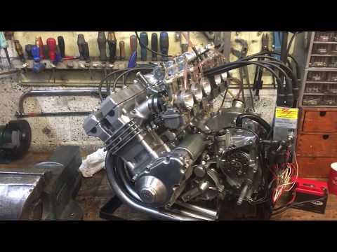 Millyard Yamaha 374cc  six cylinder engine First Start