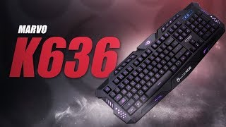 Marvo Scorpion Dark Night BlackLight K636 Gaming Keyboard (Black)