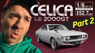 1/8 Toyota Celica Liftback 2000GT, Part 2: Headlights, Grille, Bonnet, Wheel