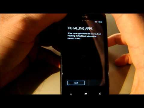 Factory resetting a HTC Mozart