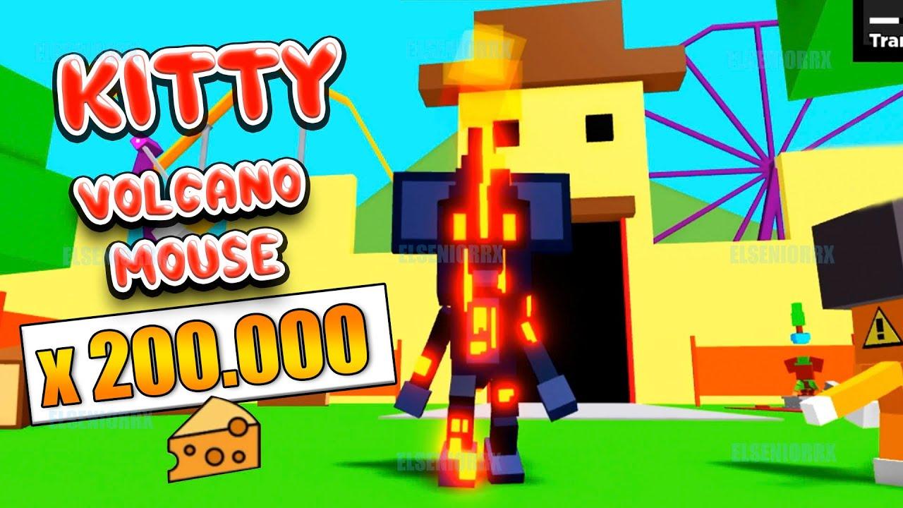KITTY VOLCANO MOUSE +200.000 CHEESE Y COMO CONSEGUIR 150.000 QUESOS ROBLOX CODE GRATIS