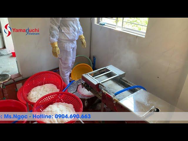 Máy làm bún tươi 300 kg/h . Lắp đặt hướng dẫn cách làm bún ngon cho khách tại Tam Kỳ-Quảng Nam