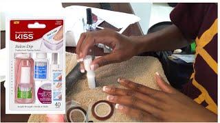 How to| DIY | Kiss Salon Dip Powder Manicure