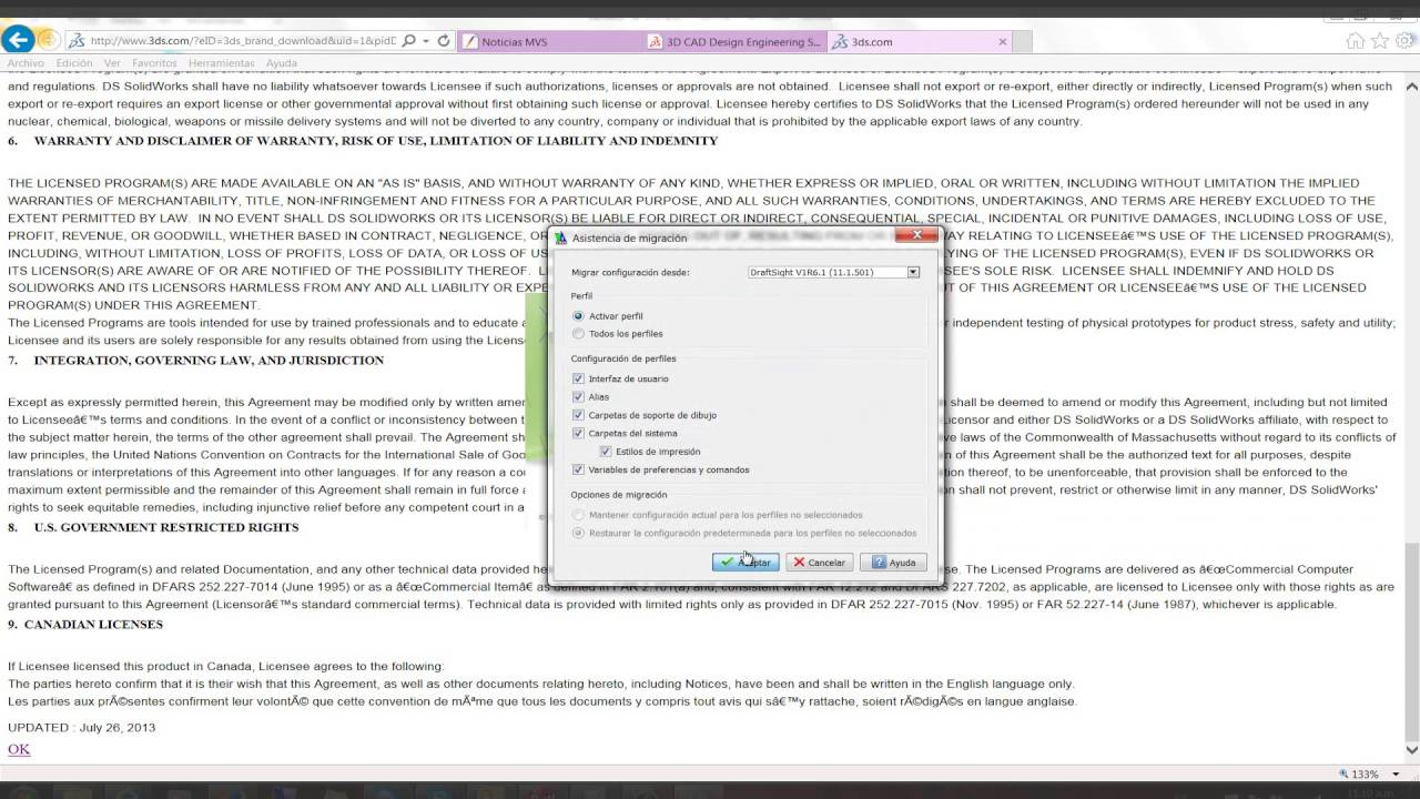 Instalación y activación de DraftSight