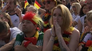 Fans in Berlin react to Germany crashing out of the World Cup at the group stage | ITV News
