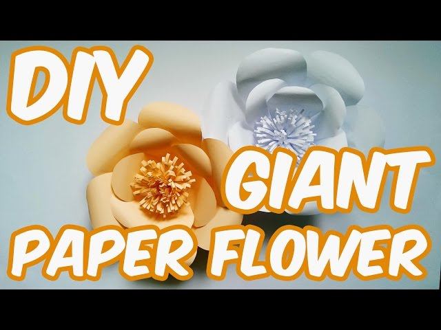 DIY How To Make Paper Flower Backdrop | Kako napraviti veliki cvet od papira