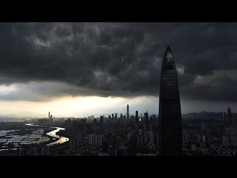 Typhoon Pakhar lands in Taishan, S China's Guangdong
