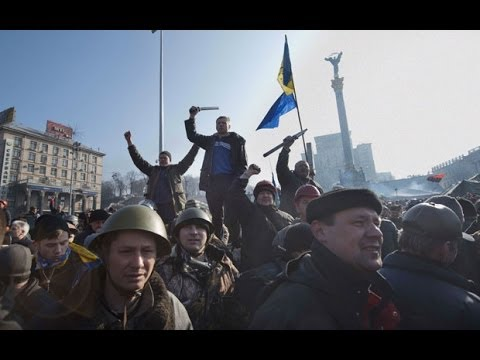 Ukraine crisis: protesters determined to remain until President Yanukovych resigns