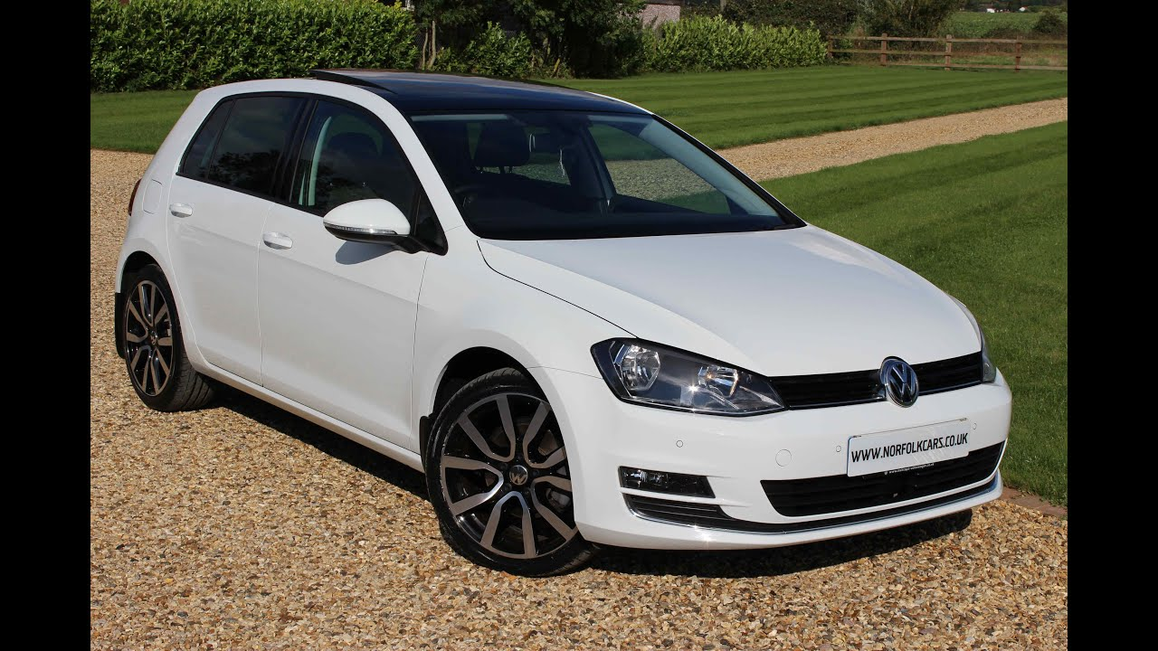 2014 volkswagen golf gt tdi white panoramic roof youtube. Black Bedroom Furniture Sets. Home Design Ideas