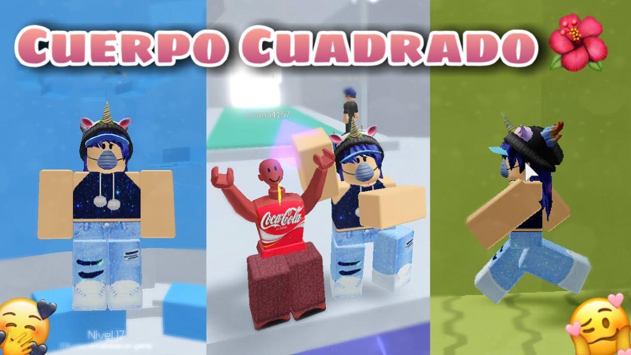 RETO : CUERPO CUADRADO EN 😂🟪TOWER OF HELL - ROBLOX