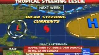The Weather Channel - Hurricane Kirk and Tropical Storm Leslie coverage - September 1, 2012
