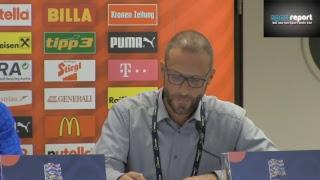 Pressekonferenz von Nordirland vor dem Nations League-Spiel gegen Österreich in Wien