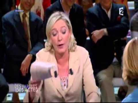 Marine LE PEN agréssée sur un plateau TV