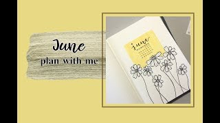 [ENG] June Plan with Me|六月子彈日誌|Bullet Journal|Daisies