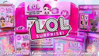 Unbox Daily: LOL Surprise Haul - Style Suitcase | Fashion Show on the go & more