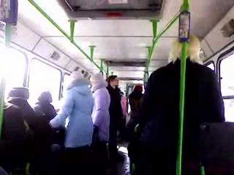 Novosibirsk. Spring. Public Transport