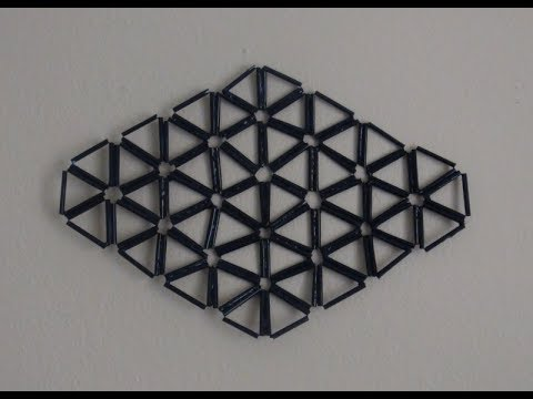 DIY Diamond Shape Wall Decor Made With Drinking Plastic ...