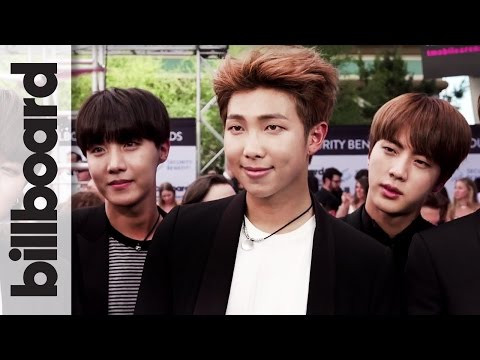 BTS K-Pop Band on Their Incredible Fan Support & First BBMA | Billboard Music Awards 2017