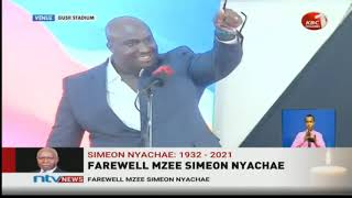 Simeon Nyachae's grandson moves mourners with powerful tribute