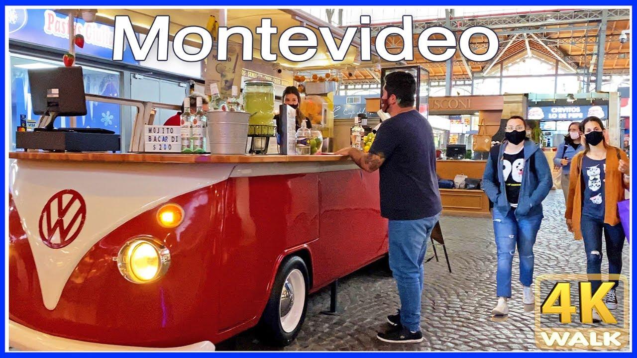 【4K】WALK Mercado Agricola Montevideo MAM Uruguay 4k video