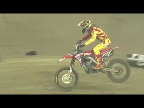 Tim Gajser crash Monster Energy SMX Riders' Cup Race 2 VELTINS