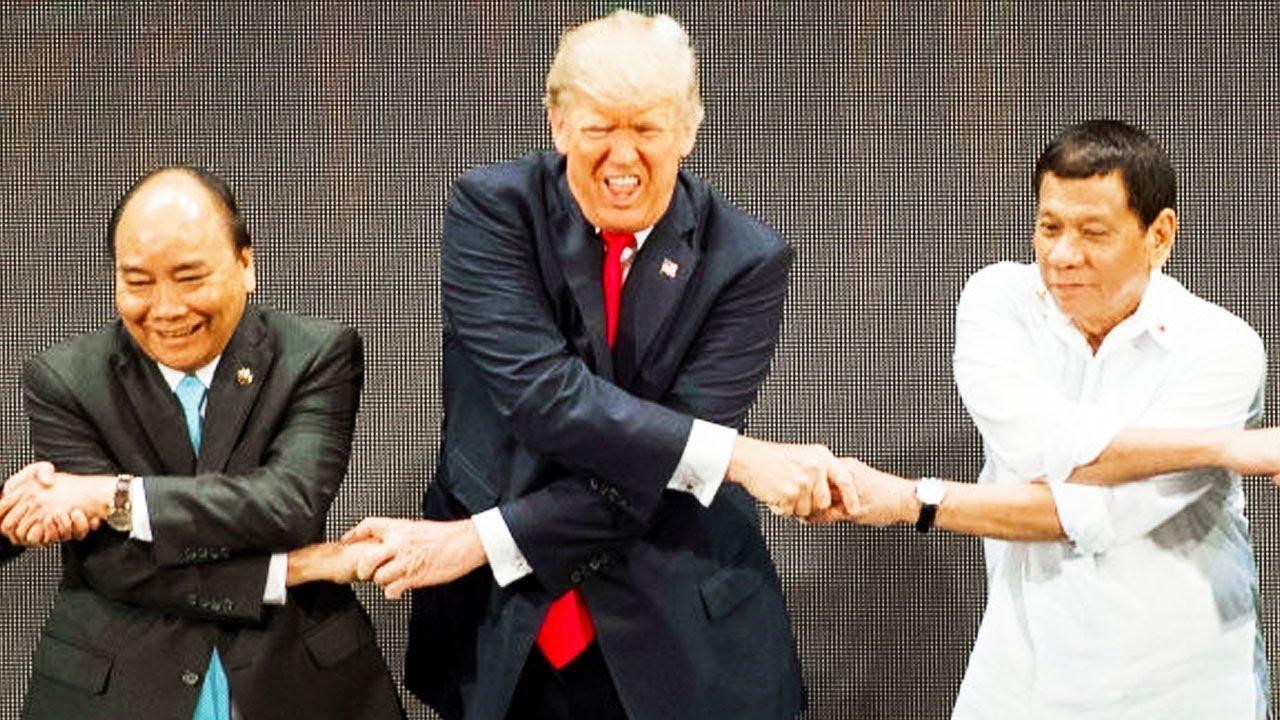 Trump's Most Awkward Handshake Yet?