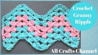 How to Crochet Granny Ripple Pattern