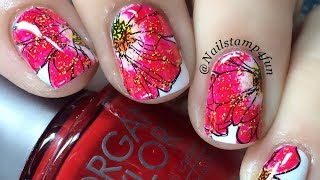 Floral Mani Using HeHe Plate 63