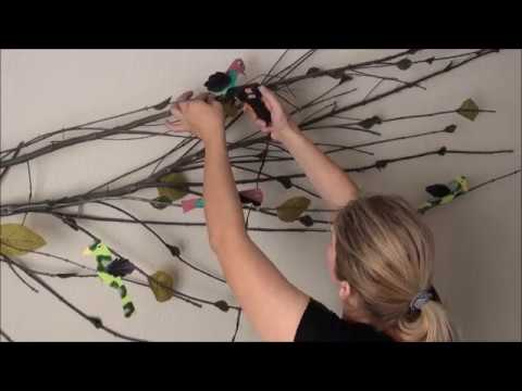 Diy Tree Branch Upcycled Wall Art Decor Youtube