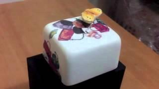 Korea Moonyart Elegant Simple Series Of Small Bags Ceramic Music Box