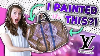 PAINTING ON A LUXURY LOUIS VUITTON BAG?!