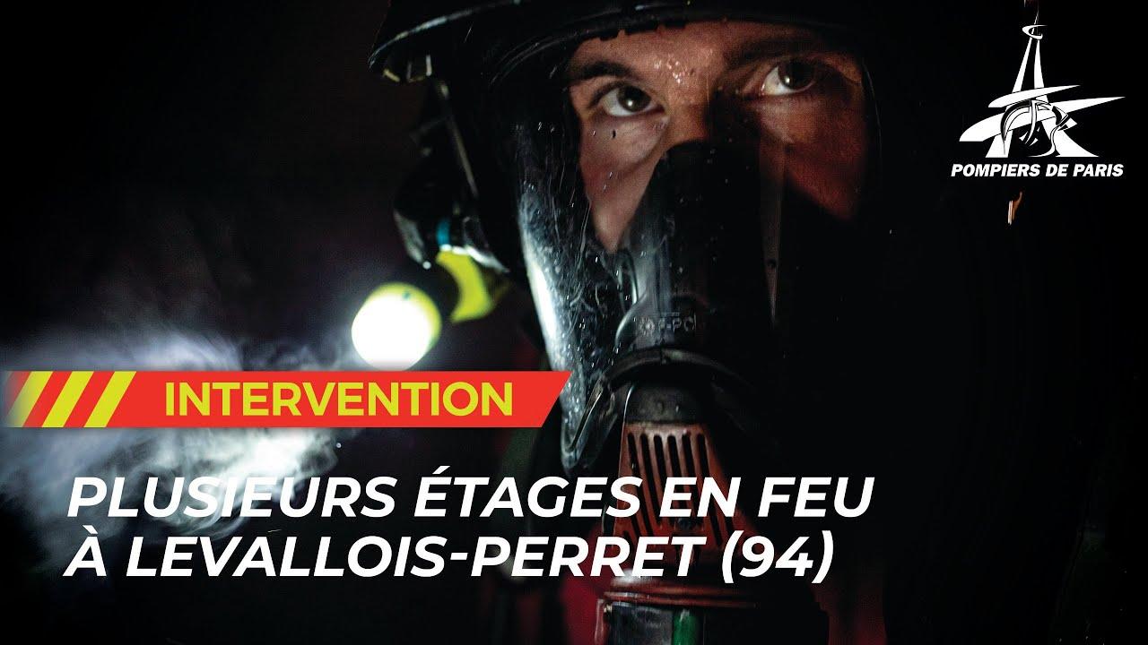 UN FEU D'APPARTEMENT SE PROPAGE AUX AUTRES ETAGES À LEVALLOIS-PERRET